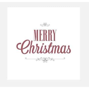 Papírové ubrousky Red Christmas