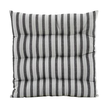 Bavlněný sedák Stripe Black/Grey 35×35 cm
