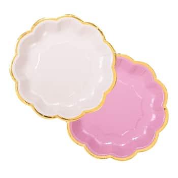 Papírové talířky We Heart Pink - 12 ks