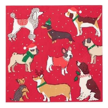 Papierové obrúsky Christmas Hound 33 × 33 cm