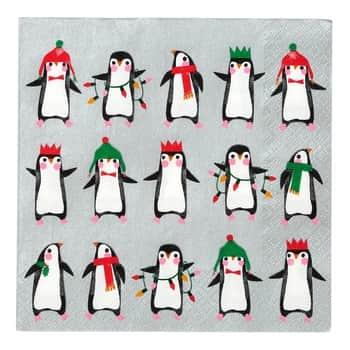 Papierové obrúsky Penguin Parade 33 × 33 cm