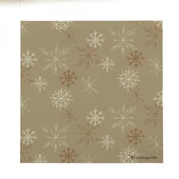 Papírové ubrousky Brown Snowflake 33×33 cm