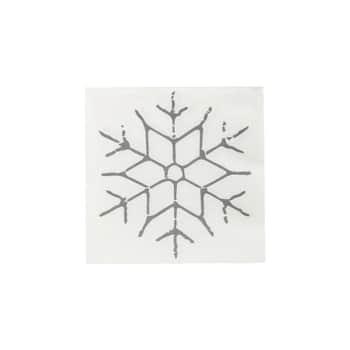 Papierové obrúsky Black Snowflake 40 ks