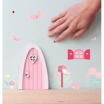 Dřevěná dvířka pro víly + samolepky Fairy garden