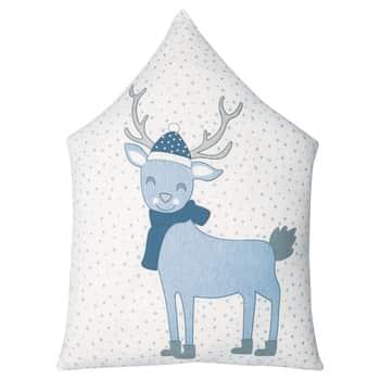 Bavlněný polštář Deer Pale Blue 31x45cm