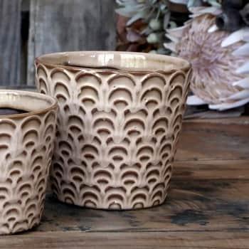 Keramický obal na květináč Nîmes Latte 13 cm