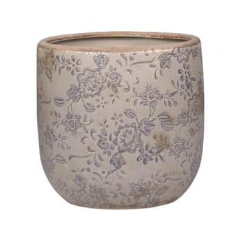 Keramický obal na kvetináč Melun Grey 13 cm