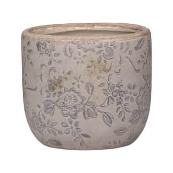 Keramický obal na květináč Melun Grey 9 cm