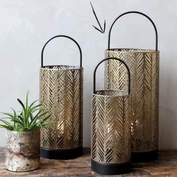 Elektrický lampáš Antique Brass 48cm