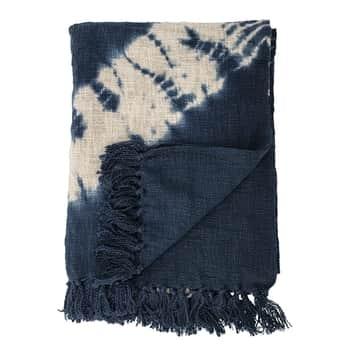 Bavlněný přehoz Blue Cotton 150×125 cm
