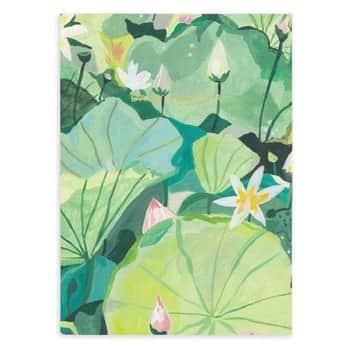 Denní nedatovaný diář Water Lilies Linen