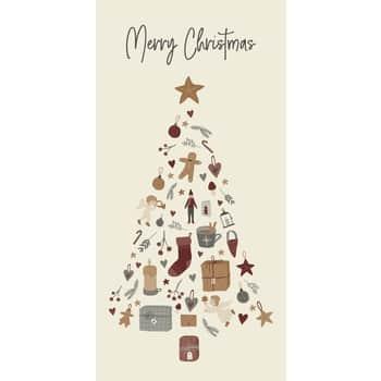 Papírové ubrousky Merry Christmas Tree 40×40 cm