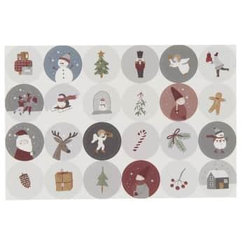 Vianočné samolepky Christmas 3 cm