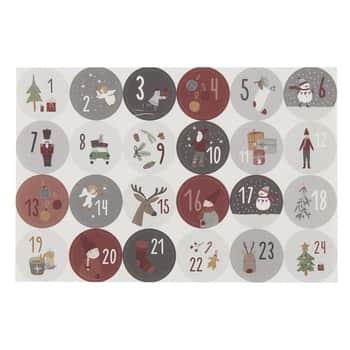 Adventné samolepky sčíslami Christmas Calendar