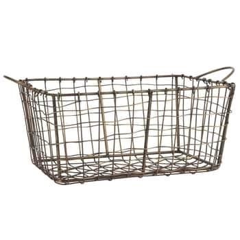 Kovový drátěný košík Brown Gold Wire