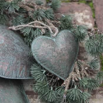 Kovové závěsné srdce Army Green 11 cm