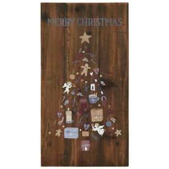 Dřevěná cedule Merry Christmas 34×65 cm