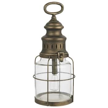 Kovová LED lucerna Grid Antique Brass 31 cm