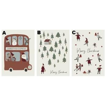 Vánoční přání Merry Christmas 10,5×14,8 cm