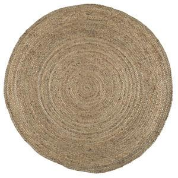 Kulatý jutový koberec Natural Jute 120 cm