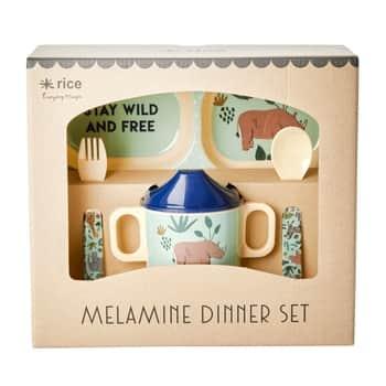 Dárkový set melaminového nádobí Jungle Animals