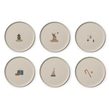 Dětské bambusové talíře Holiday Mix - set 6ks
