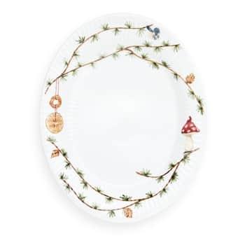 Oválný talíř Hammershøi Christmas 28,5×22,5 cm