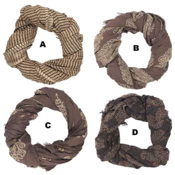 Bavlněný šátek Brown Combinations