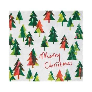 Ekologické vianočné papierové obrúsky Tree