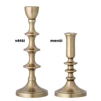 Kovový svícen Gold Candlestick