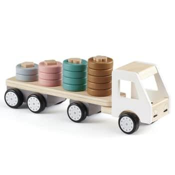 Dřevěný náklaďák skroužky Aiden