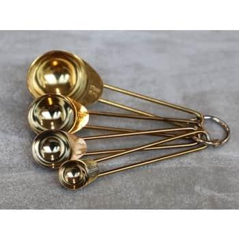 Nerezové odměrky Brass - set 4 ks