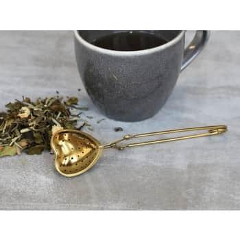 Nerezové sítko na čaj Heart Gold