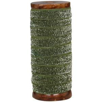 Stuha se špulkou Moss Glitter - 5m