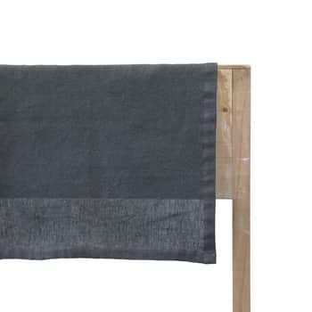 Lněný běhoun Coal 150×45 cm