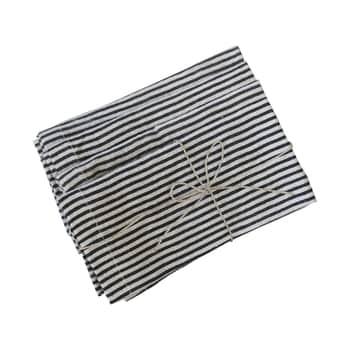 Lněný ubrousek Stripes 40×40 cm - set 4 ks