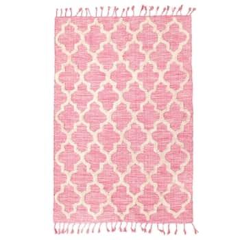 Bavlněný koberec Pink 180x120cm