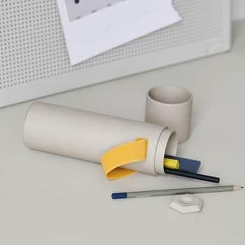 Pouzdro na psací potřeby Tube Yellow
