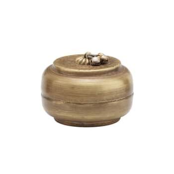 Kovová dózička svíkem Linna Brass