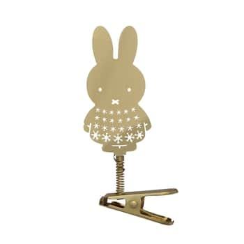 Vianočná ozdoba sklipsom Gold Miffy