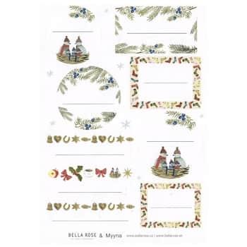Vánoční lepicí štítky na dárky