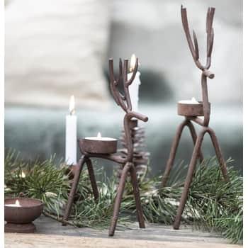 Svícen na čajovou svíčku Rust Reindeer 22 cm