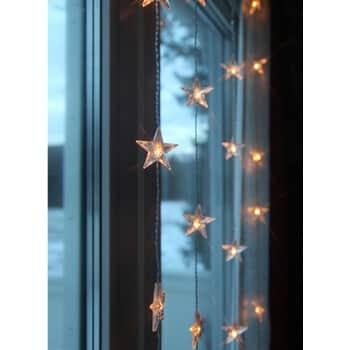 Světelný řetěz shvězdičkami Star Curtain 90 × 120 cm