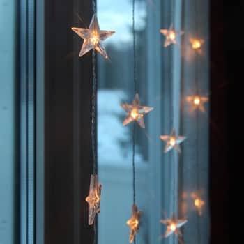 Světelný řetěz shvězdičkami Star Curtain 90 × 200 cm