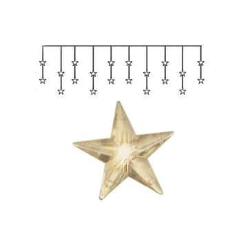 Světelný řetěz shvězdičkami Star Curtain 180 cm