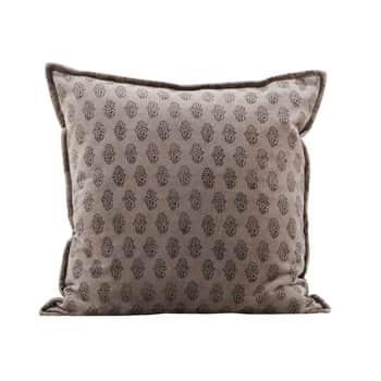 Sametový povlak na polštář Velv Grey 50×50 cm
