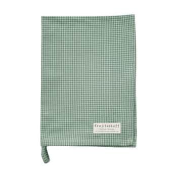 Utierka Checkered Dusty Green 50 x 70 cm