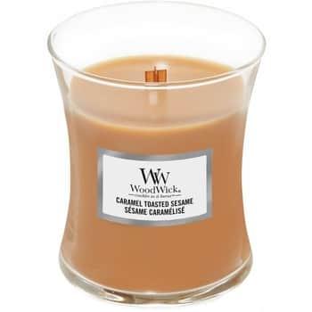 Vonná svíčka WoodWick - Caramel Toasted Sesame 275g