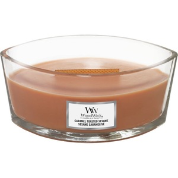 Vonná svíčka WoodWick - Caramel Toasted Sesame 454g