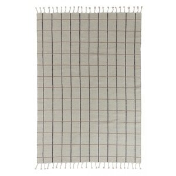 Vlněný koberec Offwhite/Anthracite 200x140cm